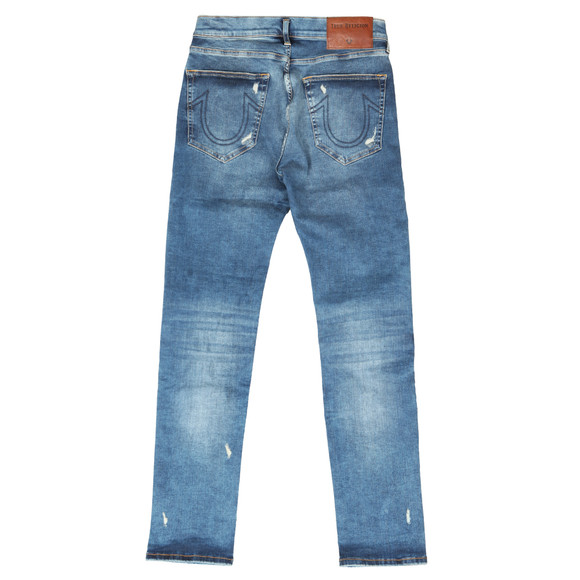 True Religion Mens Blue Rocco Traditional With Patches Jean