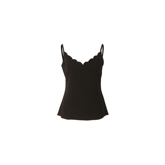 Ted Baker Womens Black Siina Scallop Neckline Cami Top main image
