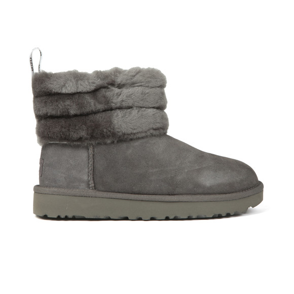 Ugg Womens Grey Fluff Mini Quilted Boot main image
