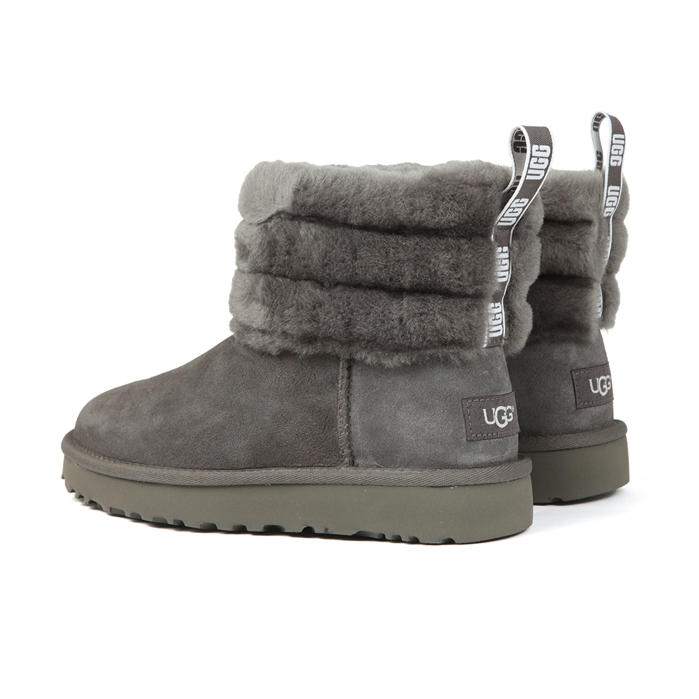 97330fbd690 Womens Grey Fluff Mini Quilted Boot