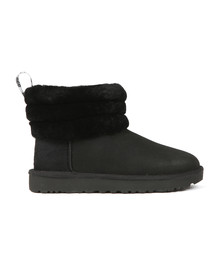 Ugg Womens Black Fluff Mini Quilted Boot