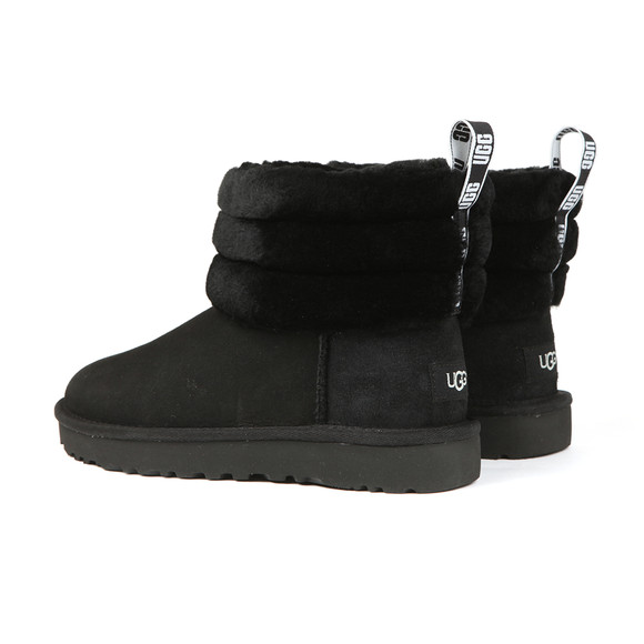 Ugg Womens Black Fluff Mini Quilted Boot main image