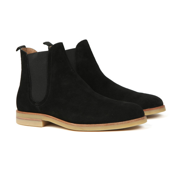 H By Hudson Mens Black Adlington Suede Boot main image