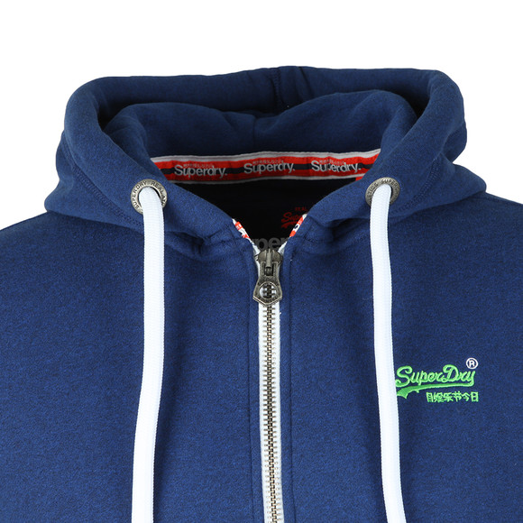 Superdry Mens Blue Orange Label Ziphood main image