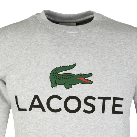 Lacoste Mens Grey SH0605 Print Sweatshirt main image