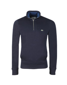 Lacoste Mens Blue SH9252 Half Zip Sweat