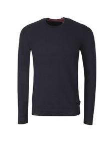 Ted Baker Mens Blue PERCYPI Textured Crew Neck Jumper