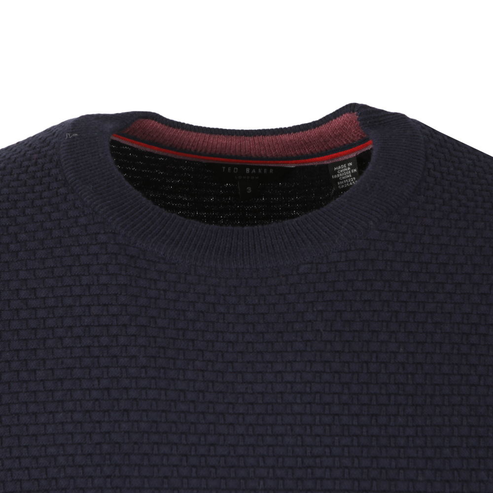 PERCYPI Textured Crew Neck Jumper main image