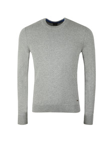 BOSS Mens Grey Casual Amitrovo Crew Neck Jumper