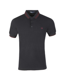 Fred Perry Mens Blue S/S Contrast Tipped Polo