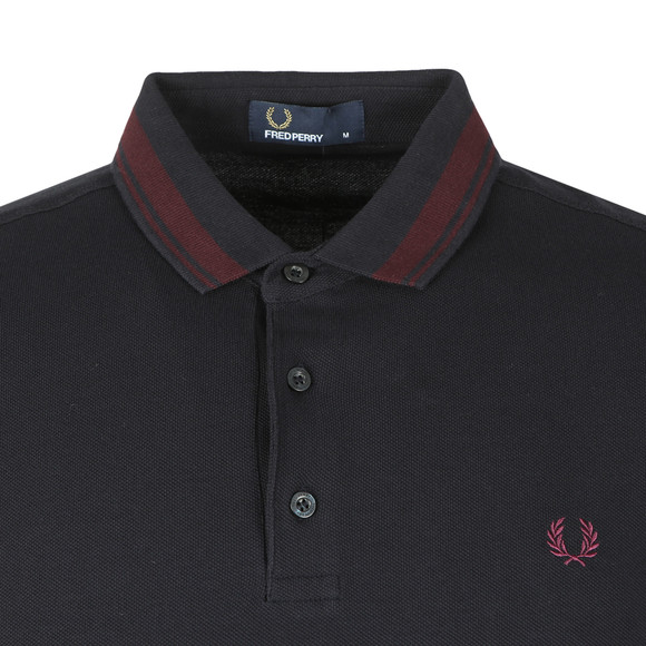 Fred Perry Mens Blue S/S Contrast Tipped Polo main image
