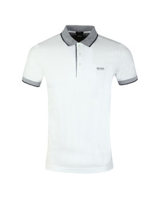 BOSS Green Mens White Paule 2 Slim Fit Polo Shirt