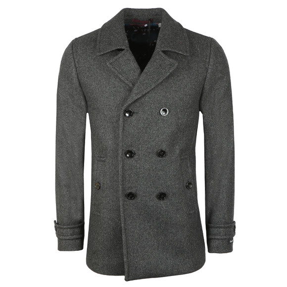 Ted Baker Mens Grey Wool Peacoat main image