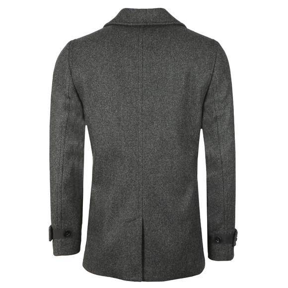 Ted Baker Mens Grey Wool Peacoat main image