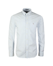 Gant Mens Blue L/S Oxford Banker Stripe Shirt