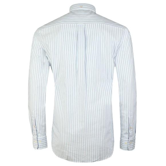 Gant Mens Blue L/S Oxford Banker Stripe Shirt main image