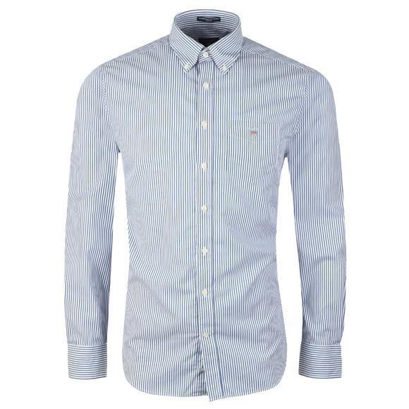 Gant Mens Blue L/S Broadcloth Banker Shirt main image