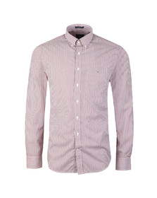 Gant Mens Red L/S Broadcloth Banker Shirt