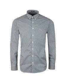Gant Mens Blue L/S Broadcloth Gingham Shirt