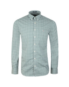 Gant Mens Green L/S Broadcloth Gingham Shirt