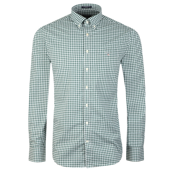 Gant Mens Green L/S Broadcloth Gingham Shirt main image