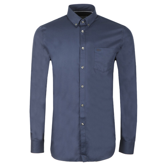 Lacoste Mens Blue L/S CH9623 Plain Shirt main image