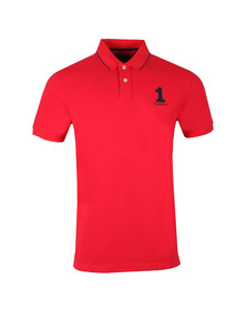 Hackett Mens Red S/S Classic Polo
