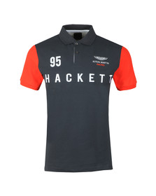Hackett Mens Grey AMR HKT Multi SS Polo