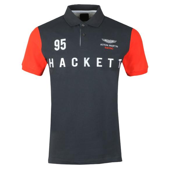 Hackett Mens Grey AMR HKT Multi SS Polo main image