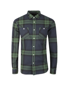 Edwin Mens Green Labour Flanel Shirt