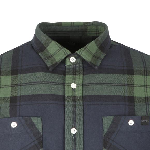 Edwin Mens Green Labour Flanel Shirt main image
