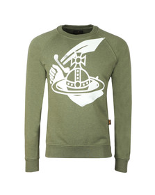 Vivienne Westwood Anglomania Mens Green Classic Sweatshirt