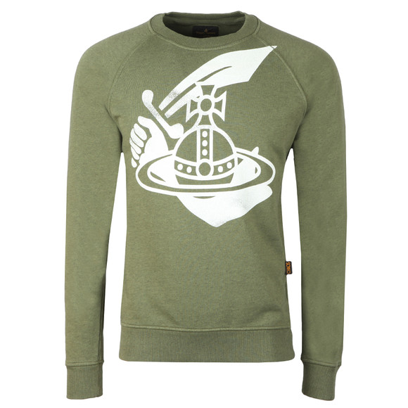 Vivienne Westwood Anglomania Mens Green Classic Sweatshirt main image