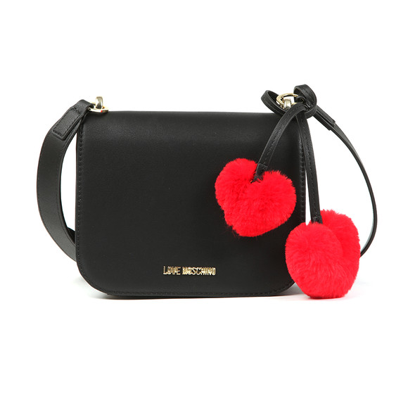 Love Moschino Womens Black Borsa Pin Grain Pu Shoulder Bag main image