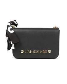 Love Moschino Womens Black Borsa Soft Grain Chain Bag