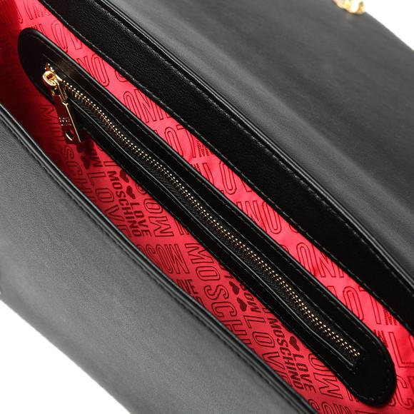 Love Moschino Womens Black Borsa Soft Grain Chain Bag main image