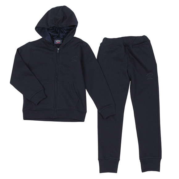 Paul & Shark Cadets Boys Blue Hooded Tracksuit main image