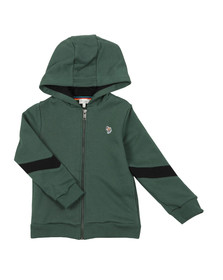 Paul Smith Junior Boys Green Full Zip Zebra Hoody