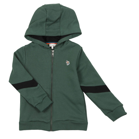 Paul Smith Junior Boys Green Full Zip Zebra Hoody main image