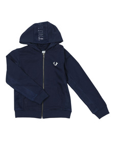 True Religion Boys Blue Mesh Logo Hoody