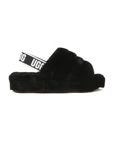 Ugg Womens Black Fluff Yeah Slide
