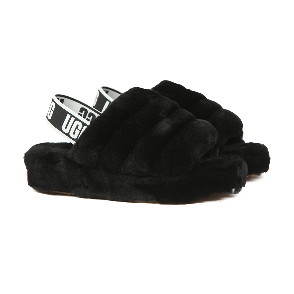 15b89bc8c2a Womens Black Fluff Yeah Slide