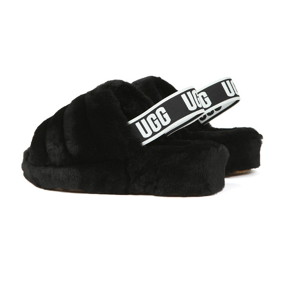 Ugg Womens Black Fluff Yeah Slide main image