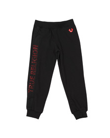 True Religion Boys Black Mesh Logo Sweatpant