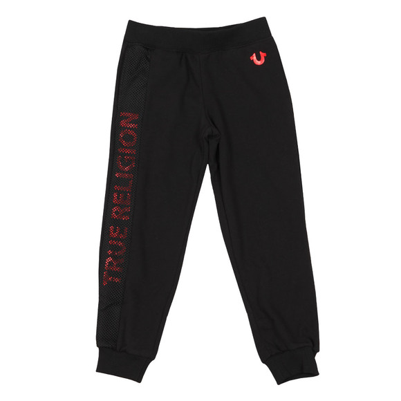 True Religion Boys Black Mesh Logo Sweatpant main image