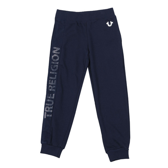 True Religion Boys Blue Mesh Logo Sweatpant main image