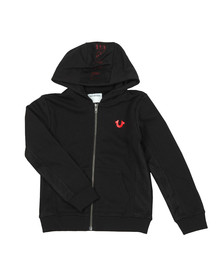 True Religion Boys Black Mesh Logo Hoody