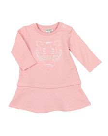 Kenzo Kids Girls Pink Girls Baby Tiger Dress
