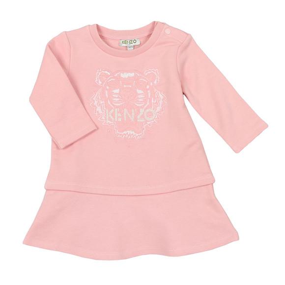 Kenzo Baby Girls Pink Tiger Dress main image