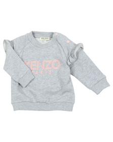Kenzo Kids Girls Grey Baby Logo Sweatshirt